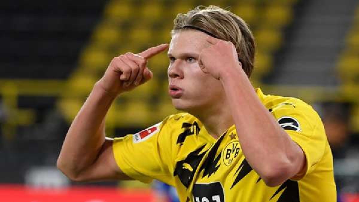 7. Erling Haaland | Borussia Dortmund | 17 bàn thắng (34 điểm).