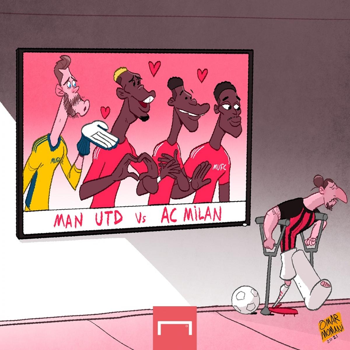 Ibrahimovic chấn thương lỡ trận đấu với MU./.