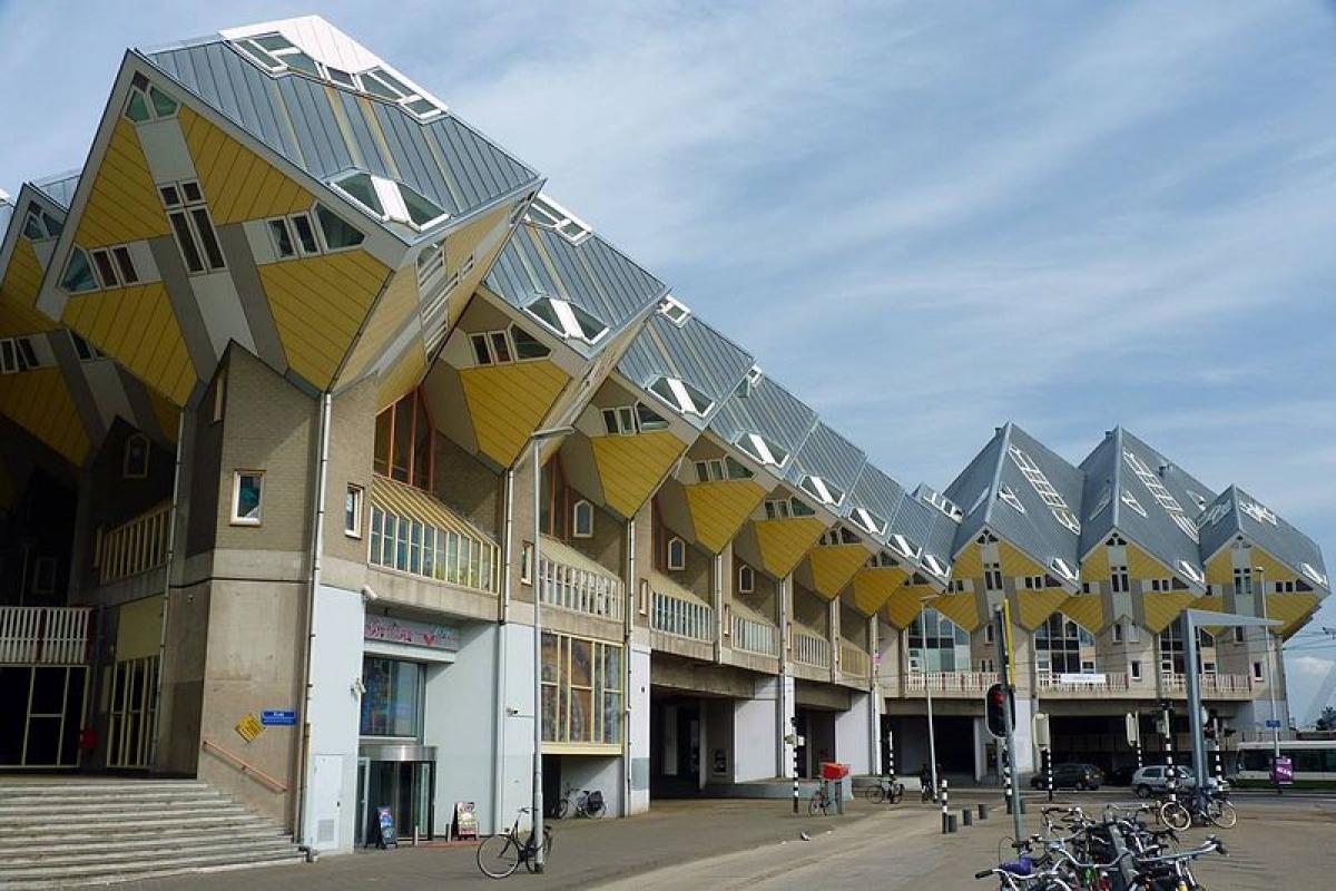 Những ngôi nhà hình khối ở Rotterdam, Hà Lan.