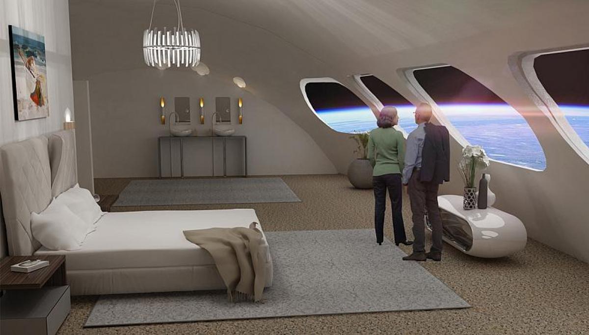 """Thiết kế phòng nghỉ tại trạm """"Voyager"""" sẽ theo phong cách tối giản, với các cửa sổ vát tròn."""