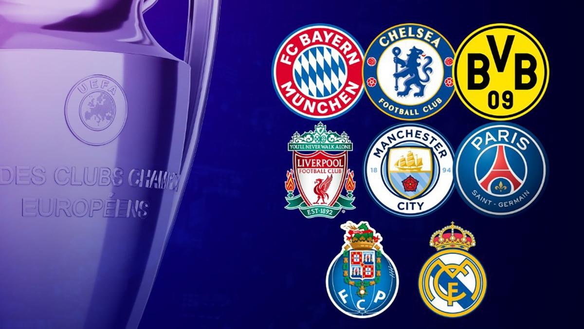 8 đội bóng vào tứ kết Champions League 2020/2021.