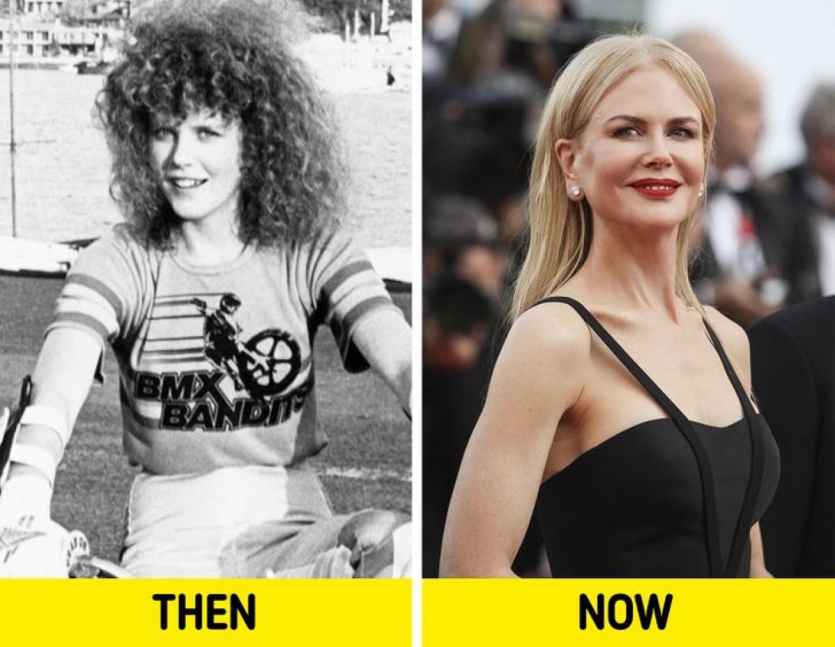 Mái tóc xù, gương mặt trẻ trung thơ ngây của minh tinh Nicole Kidman thời trẻ.