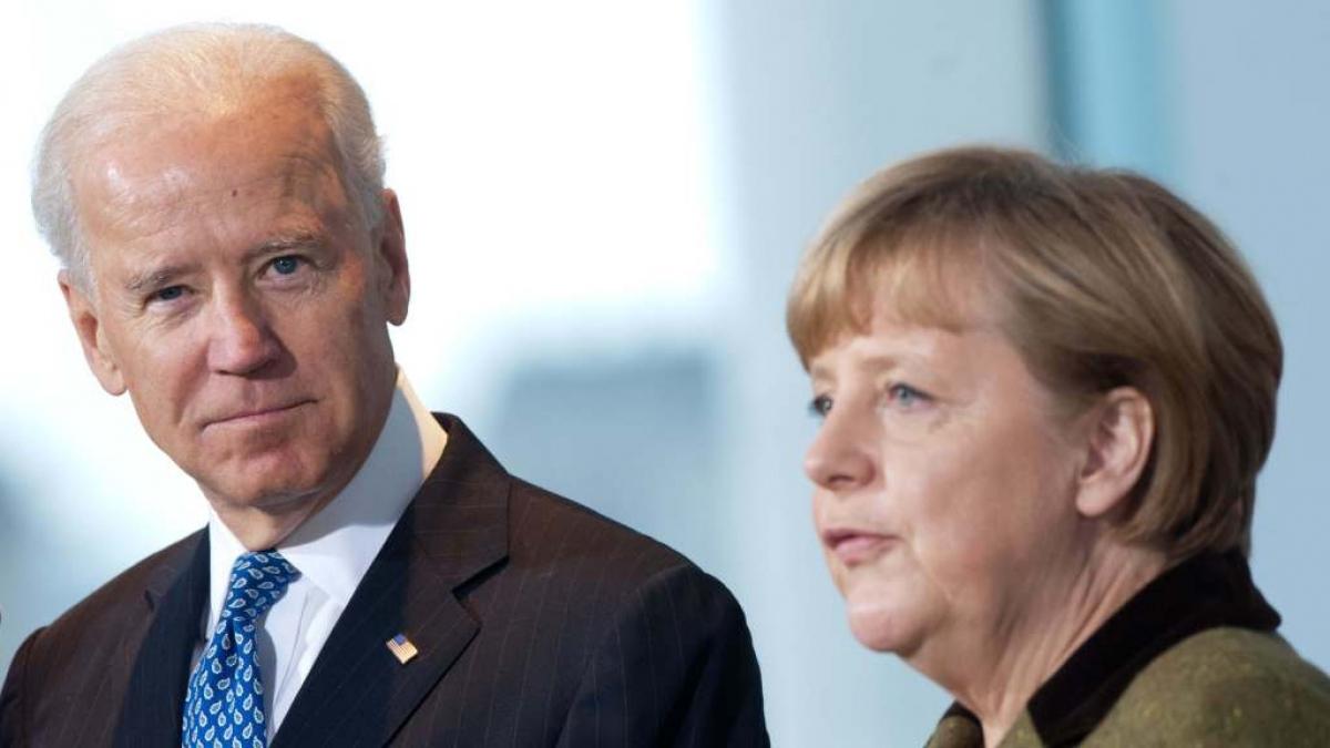 Tổng thống Mỹ Joe Biden và Thủ tướng Đức Angela Merkel. Ảnh: Brookings