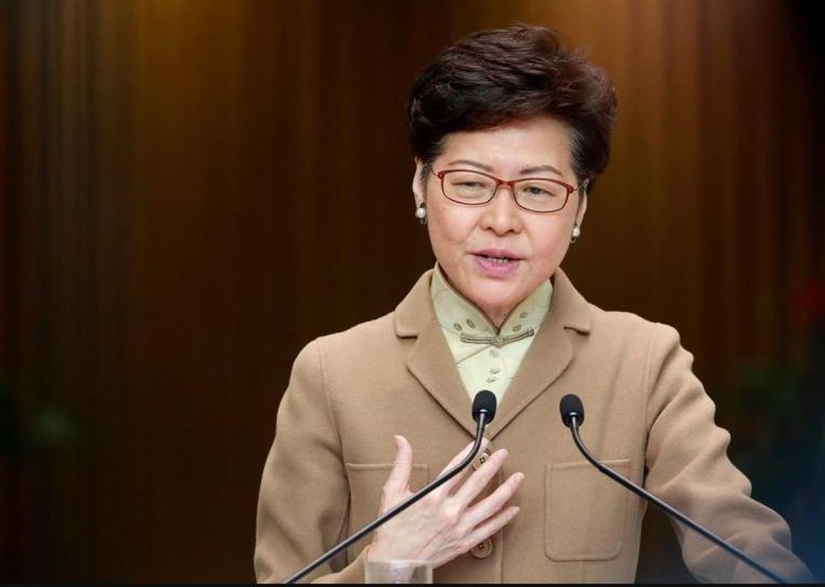 Bà Carrie Lam - Trưởng Đặc khu hành chính Hong Kong (Trung Quốc). Ảnh: Reuters