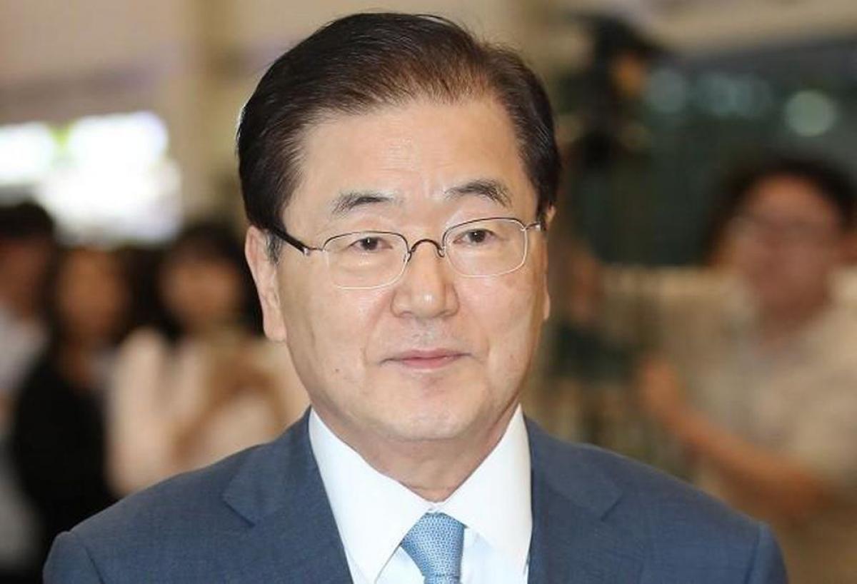 Ngoại trưởng Hàn Quốc Chung Eui-yong. Ảnh: Reuters