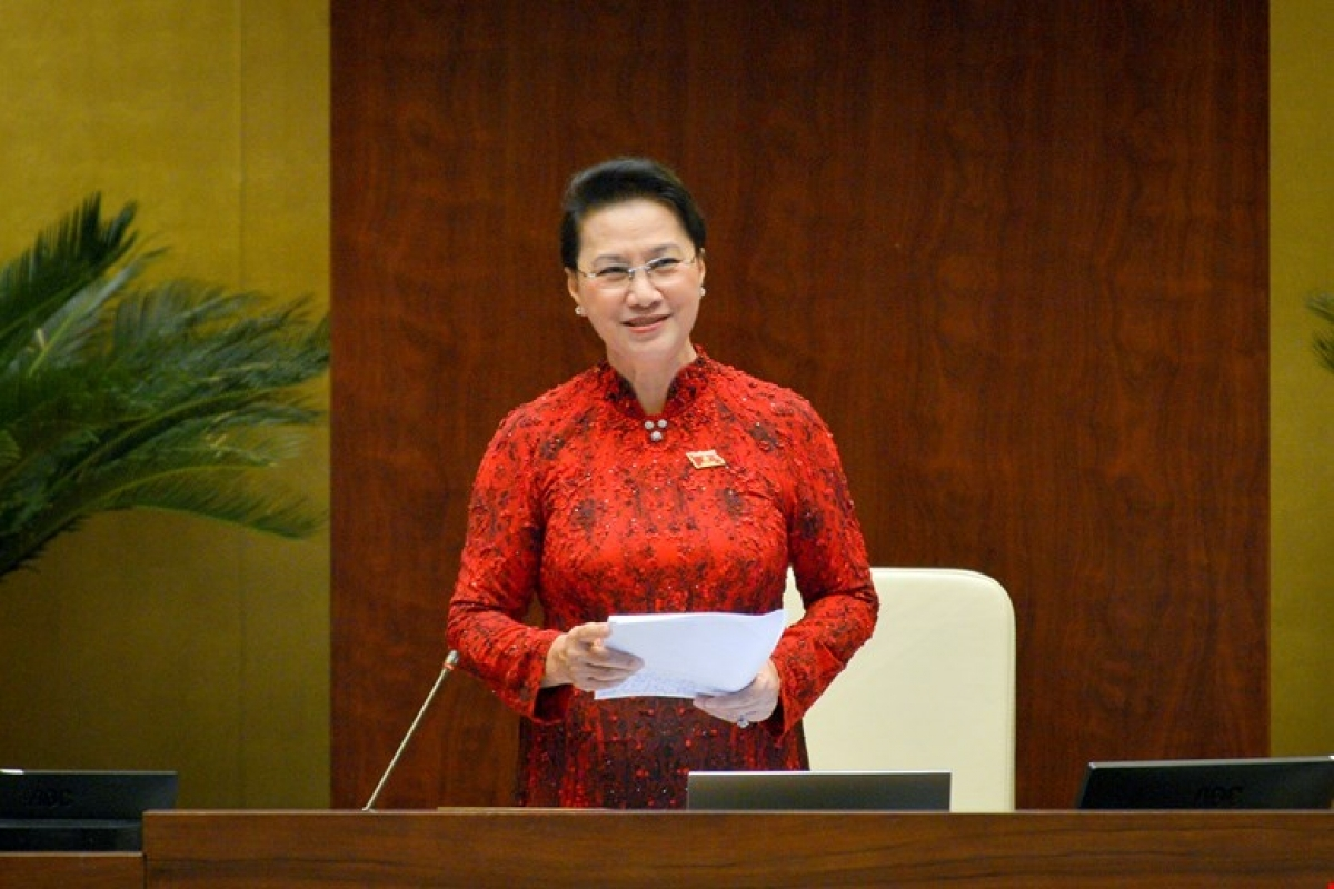Incumbent Chairperson of the National Assemblly Nguyen Thi Kim Ngan
