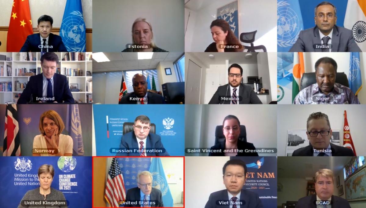 Phiên họp trực tuyến của Hội đồng Bảo an Liên Hợp Quốc về một số nước châu Phi.