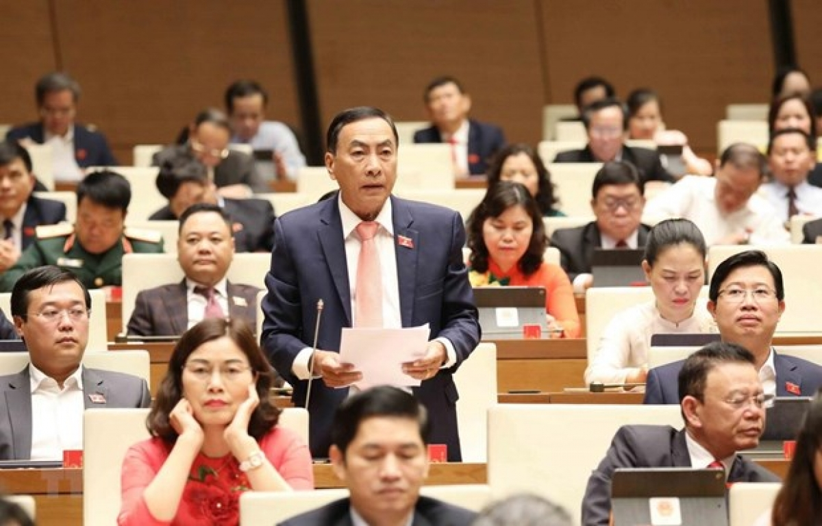 Dong Thap province's deputy Pham Van Hoa speaks at the session (Photo: VNA)