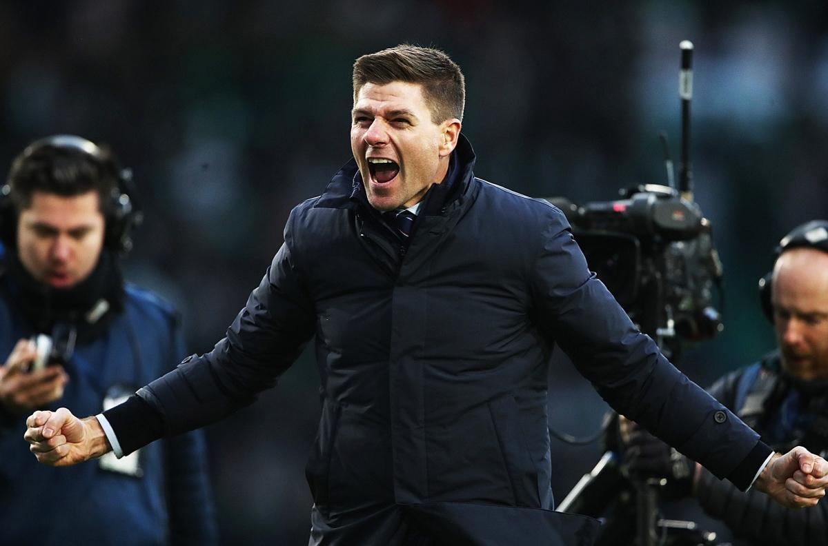 Steven Gerrard đã có danh hiệu đầu tiên trên tư cách HLV khi cùng Rangers đăng quang chức vô địch giải bóng đá Scotland (Ảnh: Getty).