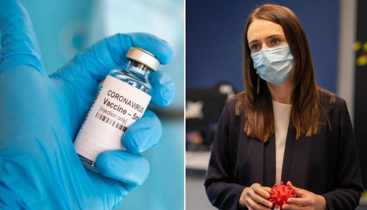 Thủ tướng New Zealand Jacinda Ardern cho biết nước này sẽ cung cấp vaccine ngừa Covid-19 của Pfizer cho toàn dân. Ảnh: Getty.
