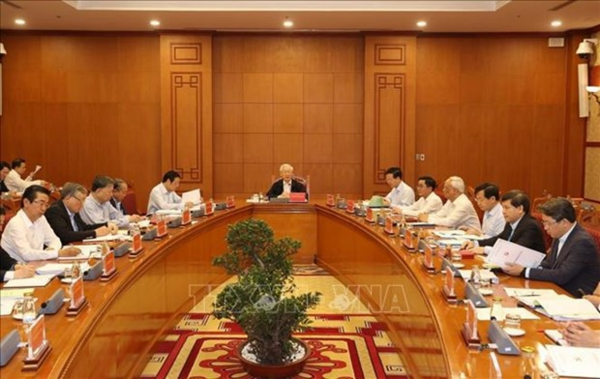 Party General Secretary and State President Nguyen Phu Trong chairs a meeting on anti-corruption. (Photo: VNA)