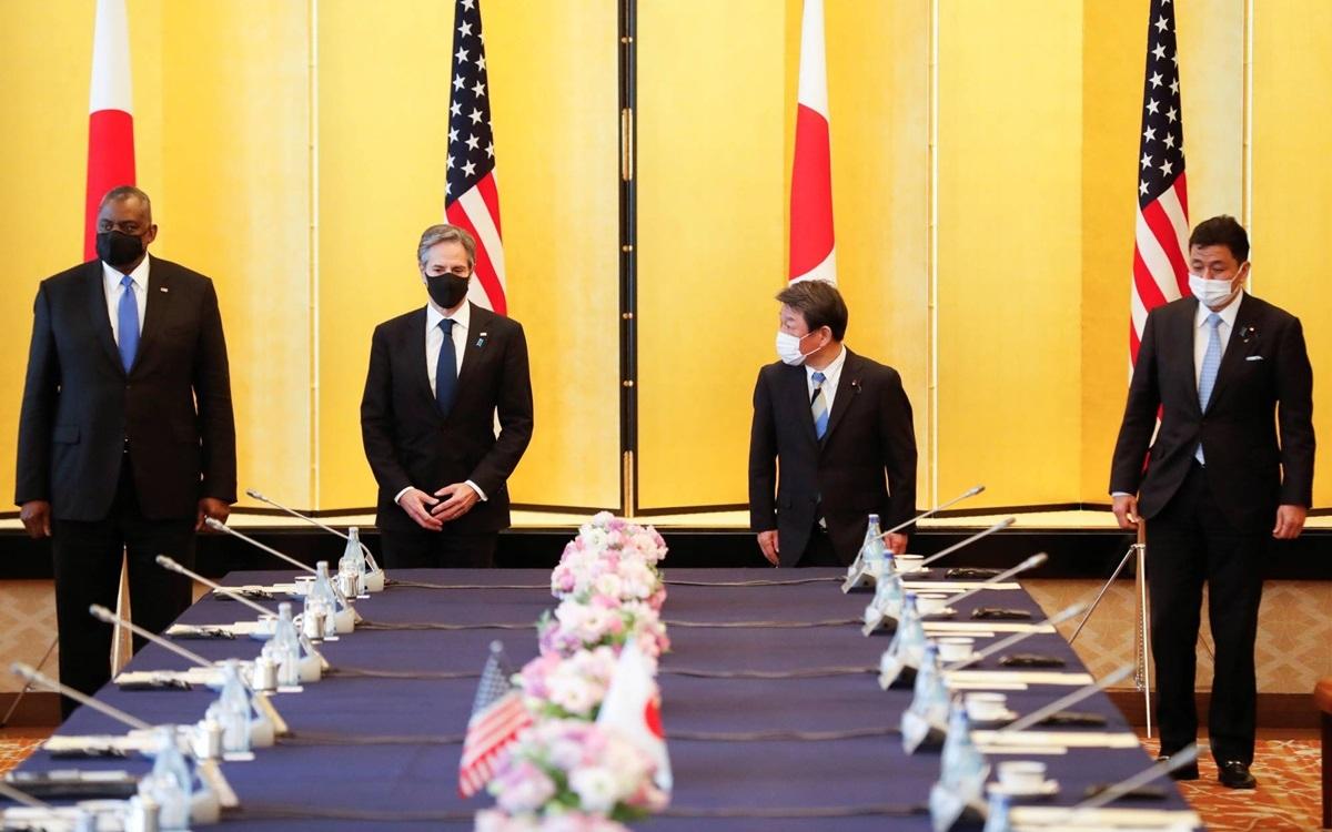 Các quan chức Nhật Bản và Mỹ. Ảnh: Japan Times.