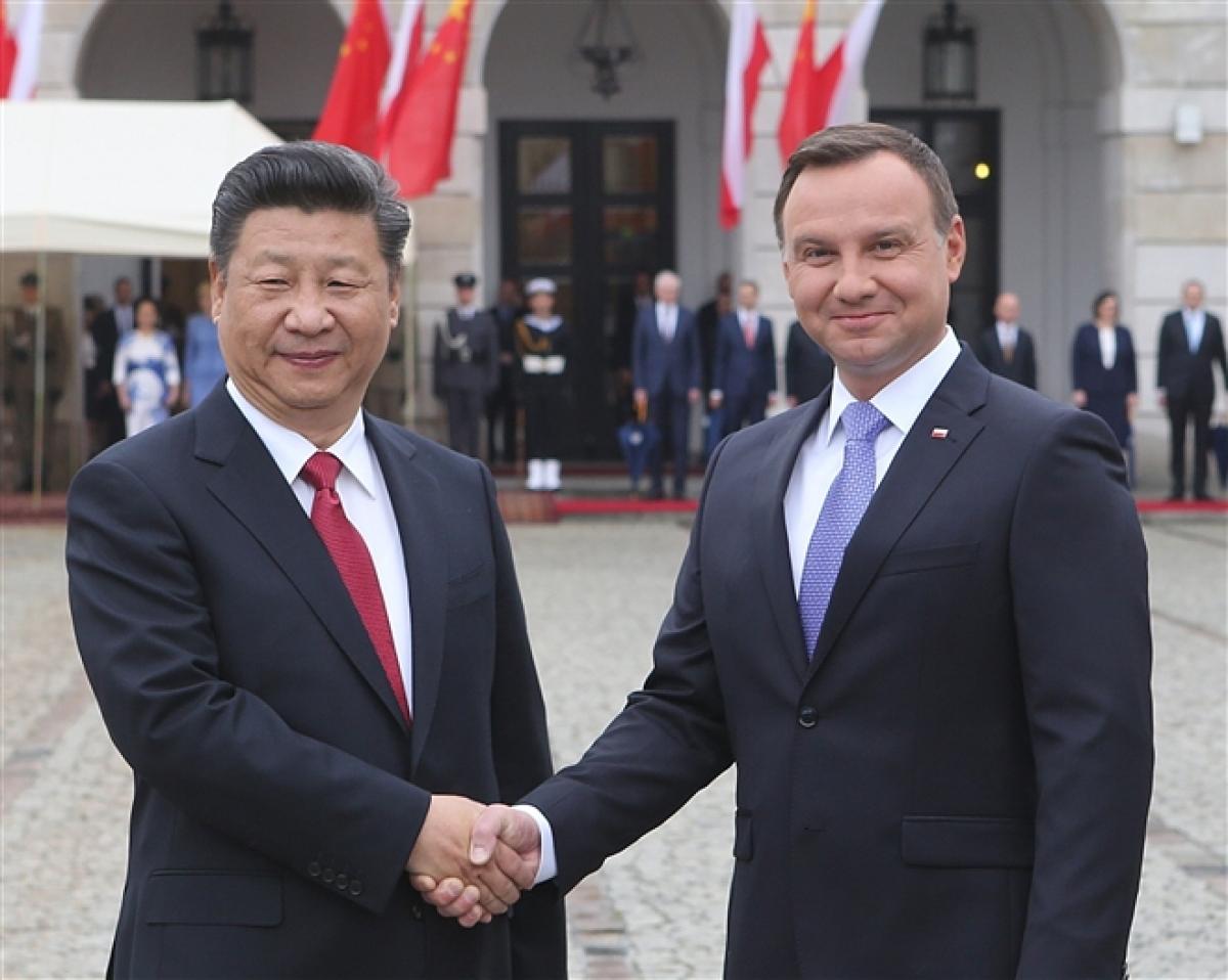 Chủ tịch Trung Quốc Tập Cận Bình và Tổng thống Ba Lan Andrzej Duda.