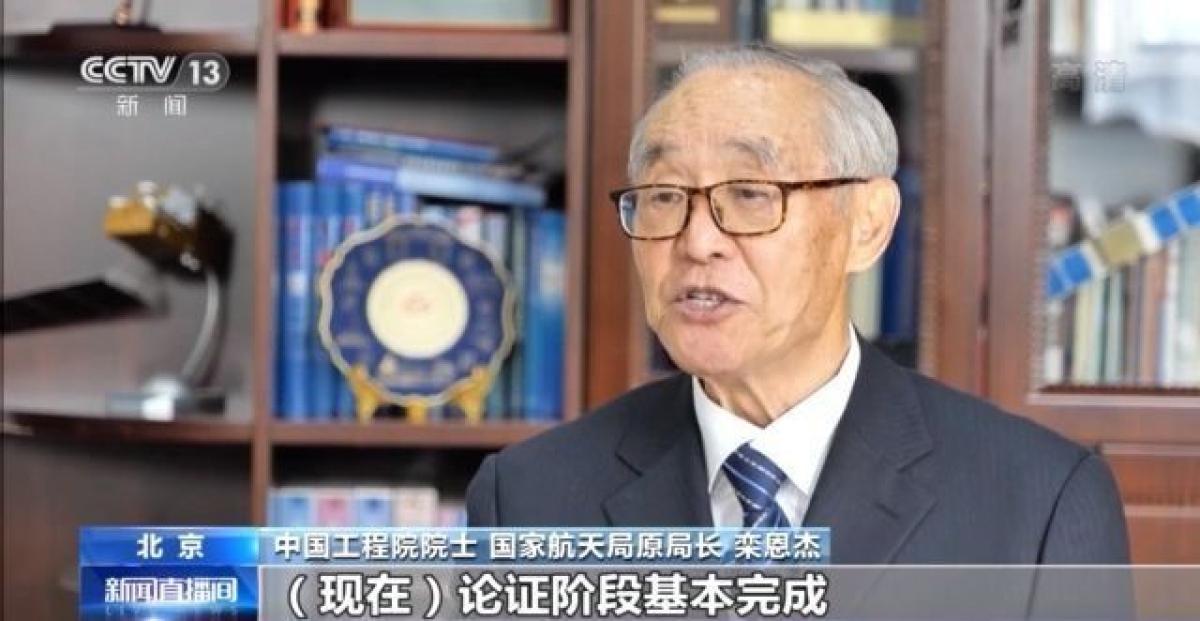 Ông Loan Ân Kiệt, Tổng chỉ huy đầu tiên Chương trình thám hiểm Mặt Trăng của Trung Quốc. Ảnh: CCTV
