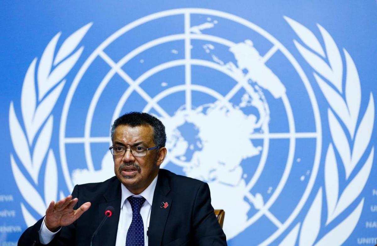 Tổng Giám đốc Tổ chức Y tế Thế giới Tedros Adhanom Ghebreyesus. Ảnh: Reuters