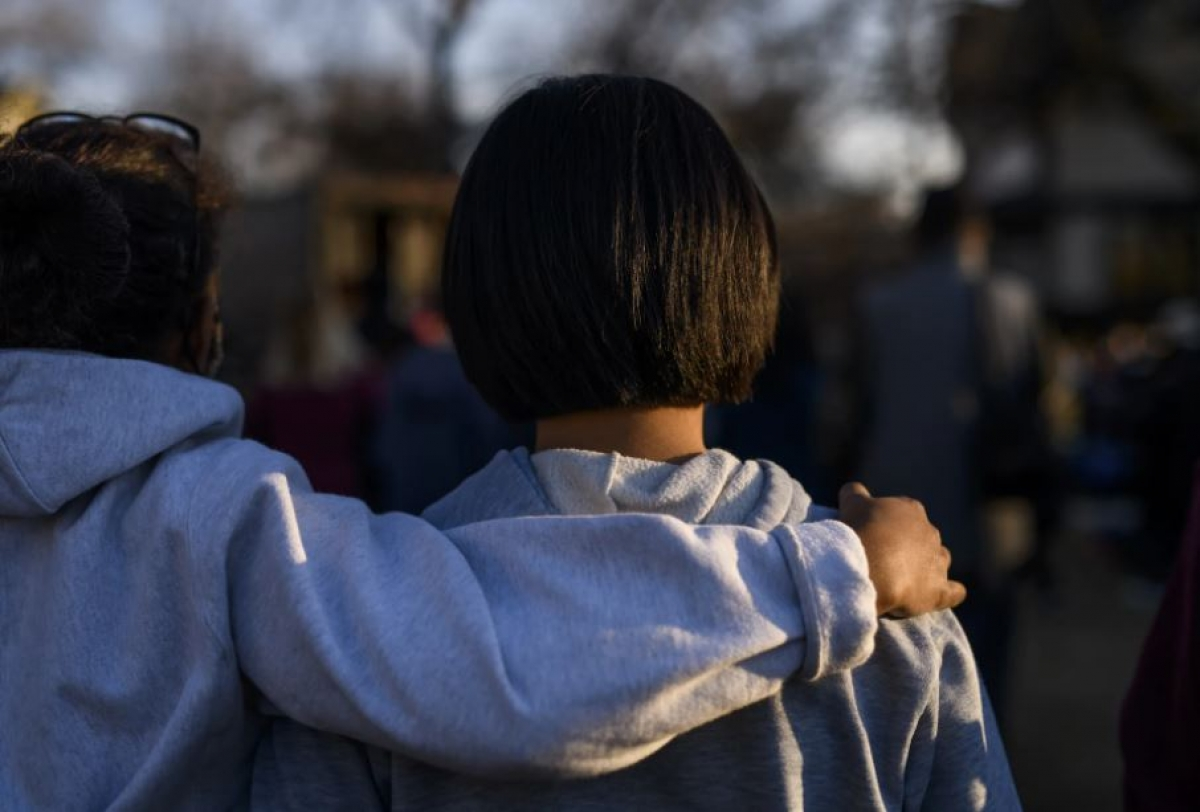 Biểu tình chống lại tình trạng bạo lực nhằm vào người gốc Á ở Minneapolis. Ảnh: Getty
