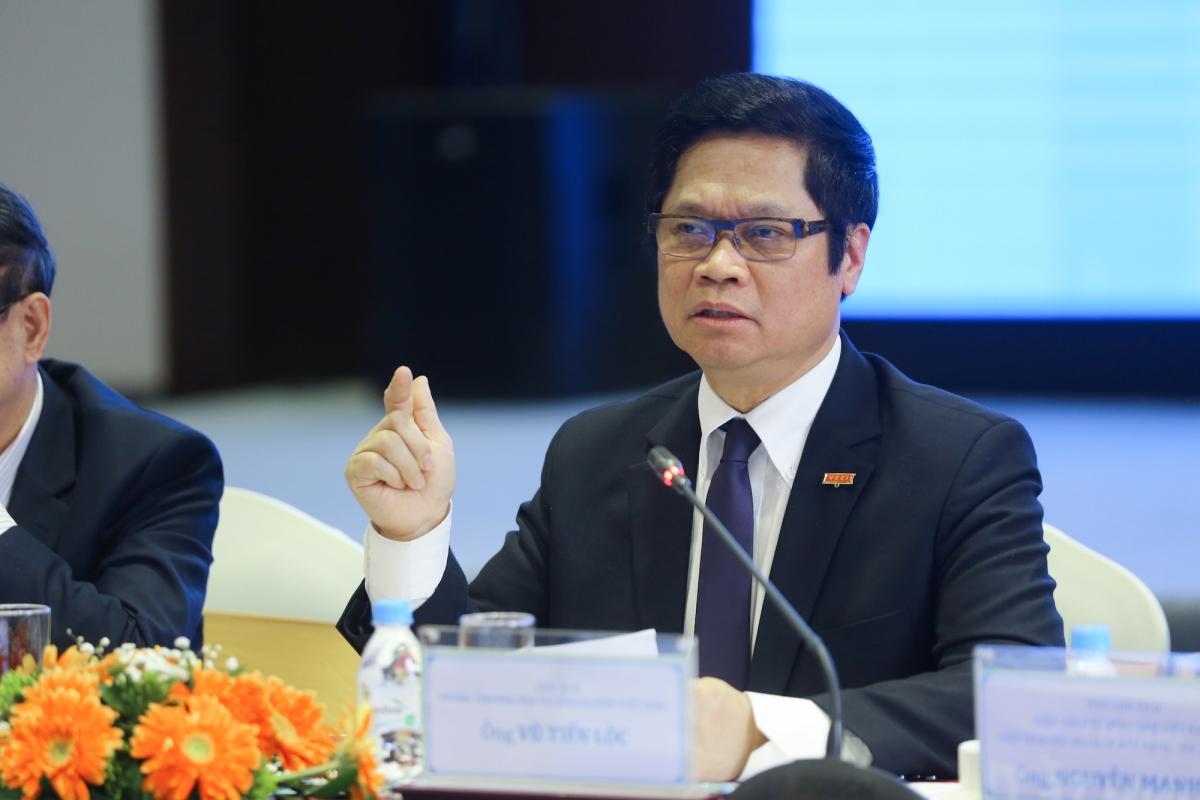 Tiến sỹ Vũ Tiến Lộc, Chủ tịch Phòng Thương mại và Công nghiệp Việt Nam (VCCI).