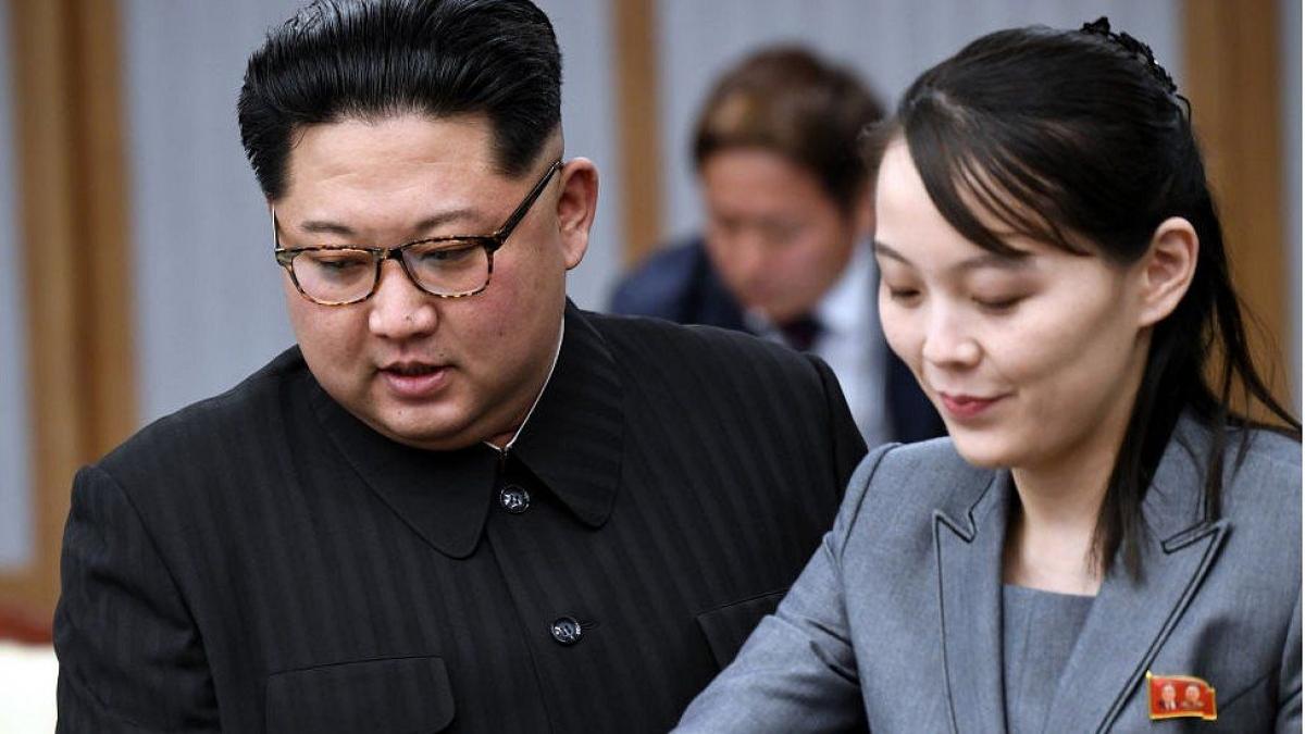 Ông Kim Jong Un và bà Kim Yo Jong. Ảnh: BBC.