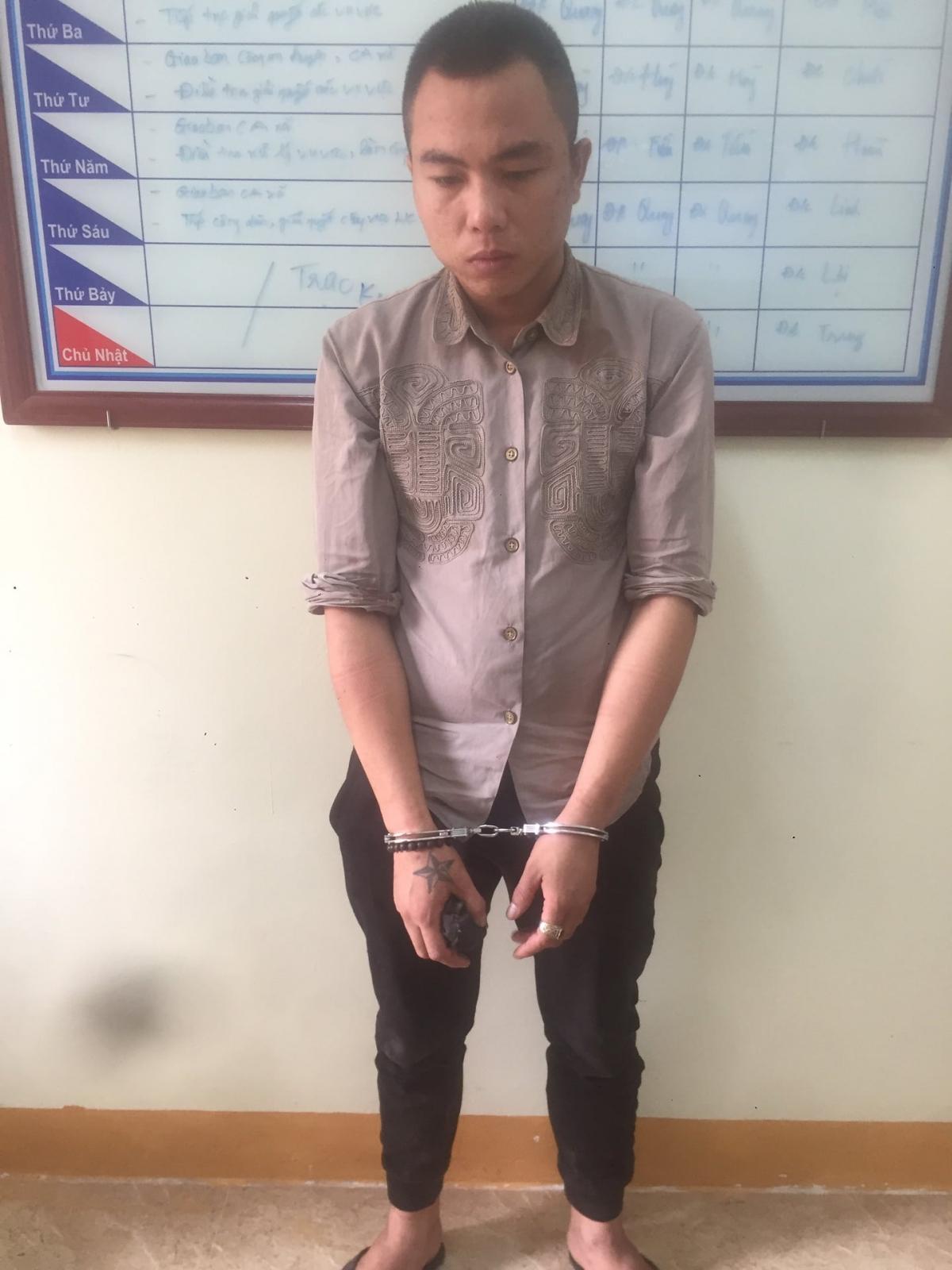 Phạm Ngọc Công tại cơ quan điều tra.