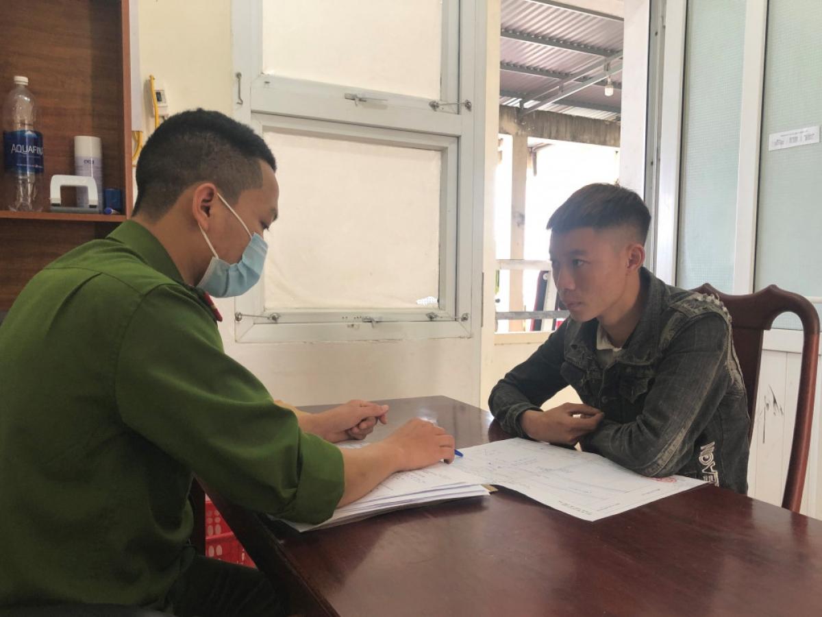 Lương Trường Giang tại cơ quan điều tra.