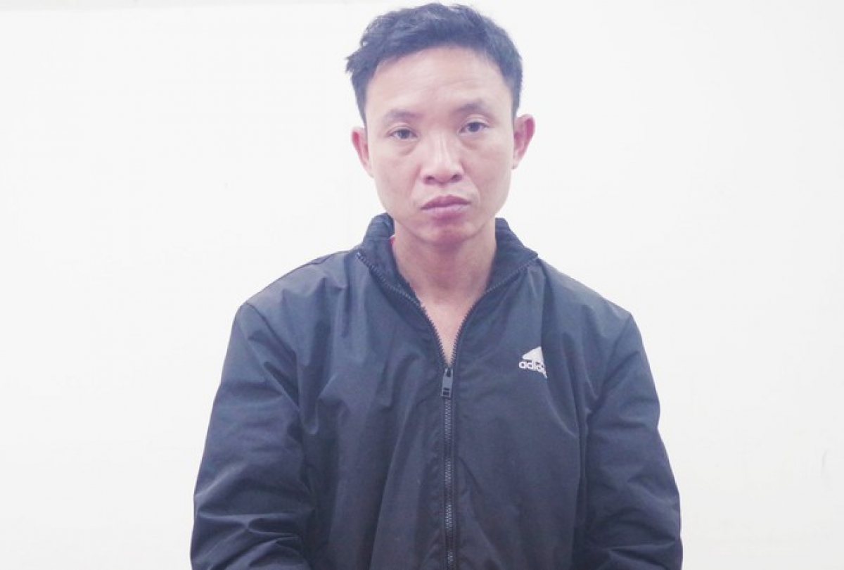 Lê Quang Thành tại cơ quan điều tra.