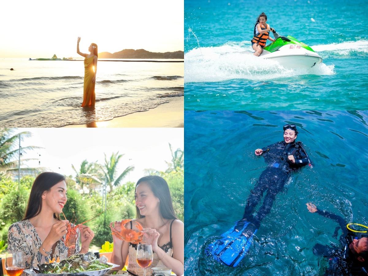 """Lặn ngắm san hô, thưởng thức hải sản tươi sống…, có vô số cách để nàng hòa mình vào thiên nhiên trong lành ở """"Thiên đường biển đảo"""". (Ảnh: FLC Quy Nhơn)."""