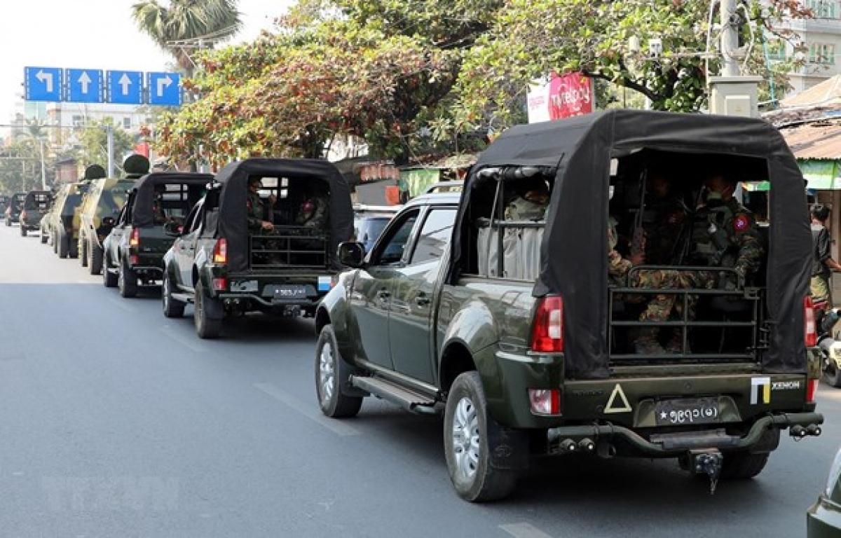 Soldiers have been deployed in Mandalay, Myanmar (Photo: VNA)