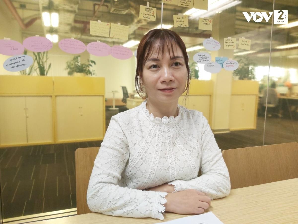 Bà Hà Thị Quỳnh Anh, Chuyên gia về nhân quyền và giới, Quỹ dân số Liên Hợp Quốc (UNFPA).