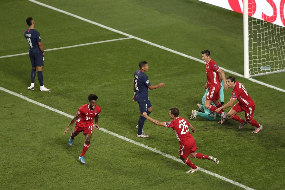 Coman ghi bàn duy nhất giúp Bayern Munich hạ gục PSG ở chung kết Champions League mùa trước. (Ảnh: Getty)