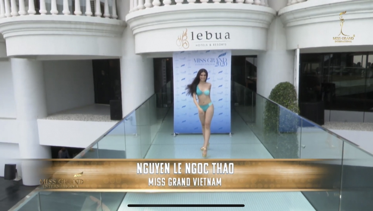 The Vietnamese girl joins 63 others from around the world in the swimsuit segment as part of the beauty contest.