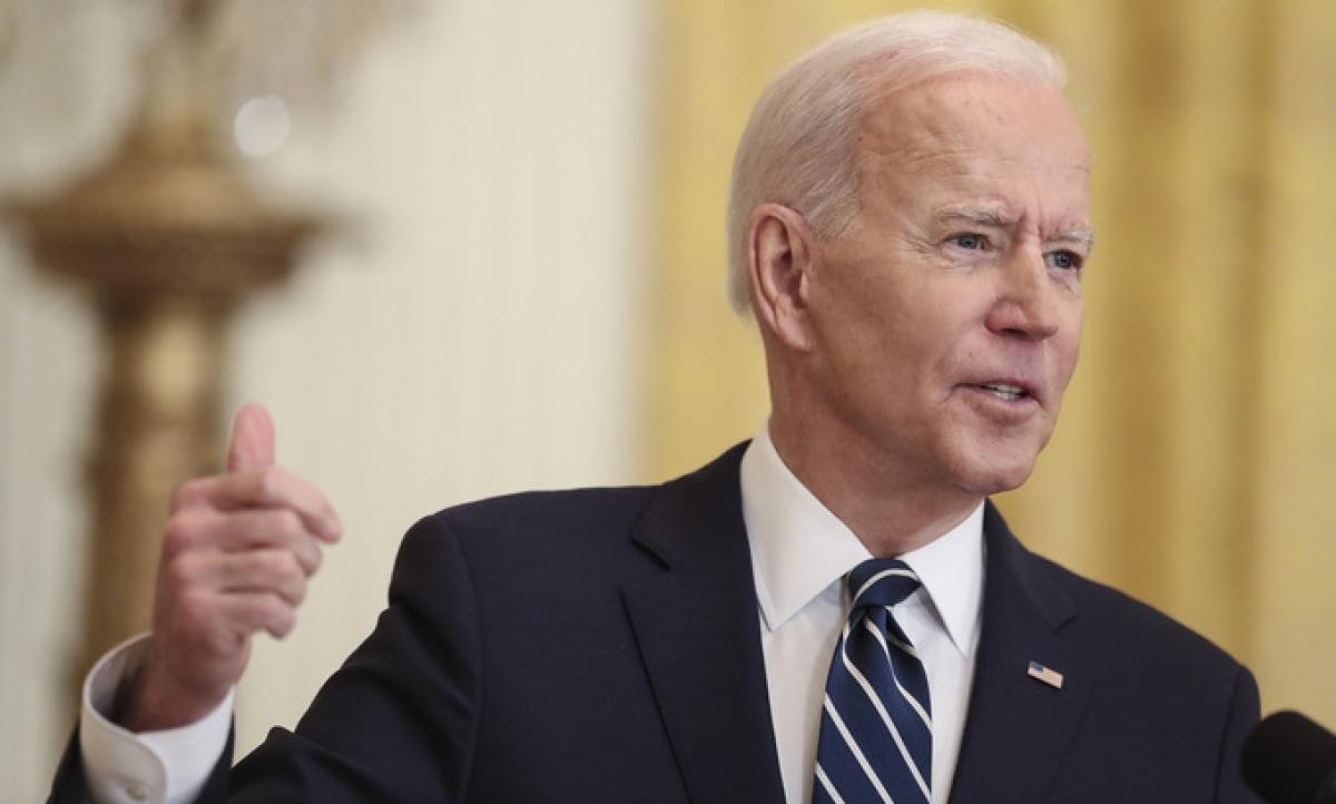 Biden trong cuộc họp báo tại Nhà Trắng hôm 25/3. Ảnh:Reuters.