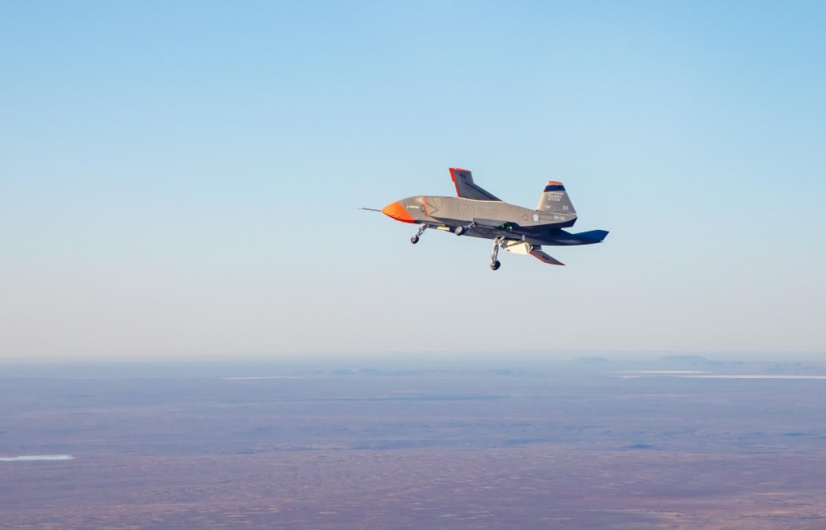Loyal Wingman, mẫu máy bay không người lái đầu tiên của Australia thực hiện chuyến bay thử nghiệm thành công. Ảnh: Bộ Quốc phòng Australia.