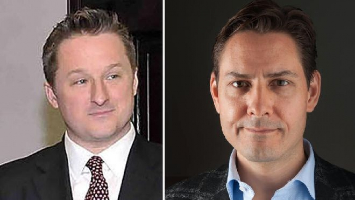 Ông Michael Spavor (trái) và Michael Kovrig là 2 công dân Canada bị Trung Quốc bắt giữ. Ảnh: AFP