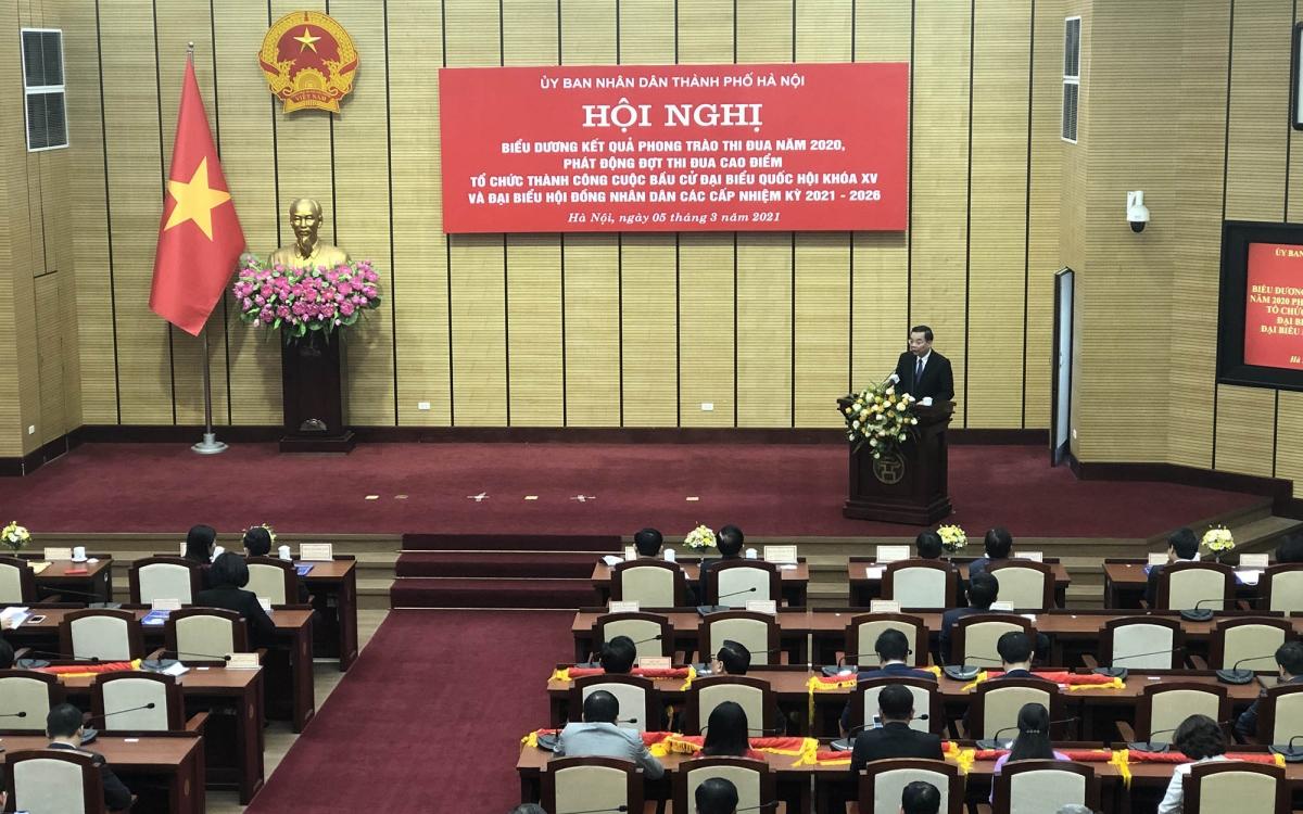 Chủ tịch UBND Thành phố Hà Nội Chủ Ngọc Anh, phát động đợt thi đua cao điểm tổ chức thành công cuộc bầu cử đại biểu Quốc hội khóa XV và đại biểu HĐND các cấp nhiệm kỳ 2021-2026.