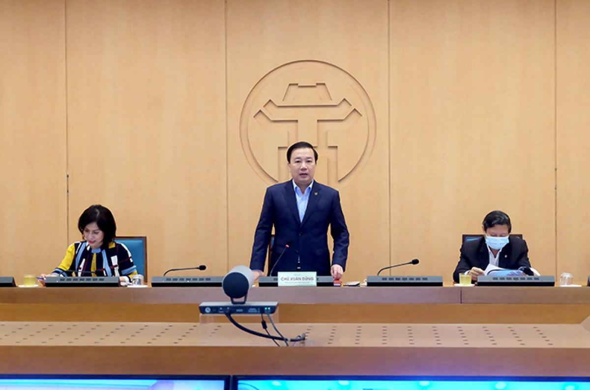 Phó Chủ tịch Chử Xuân Dũng phát biểu kết luận cuộc họp.