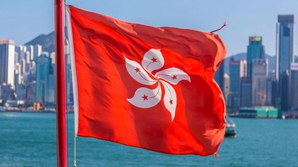 Cờ Hong Kong (Trung Quốc). Ảnh: BBC.
