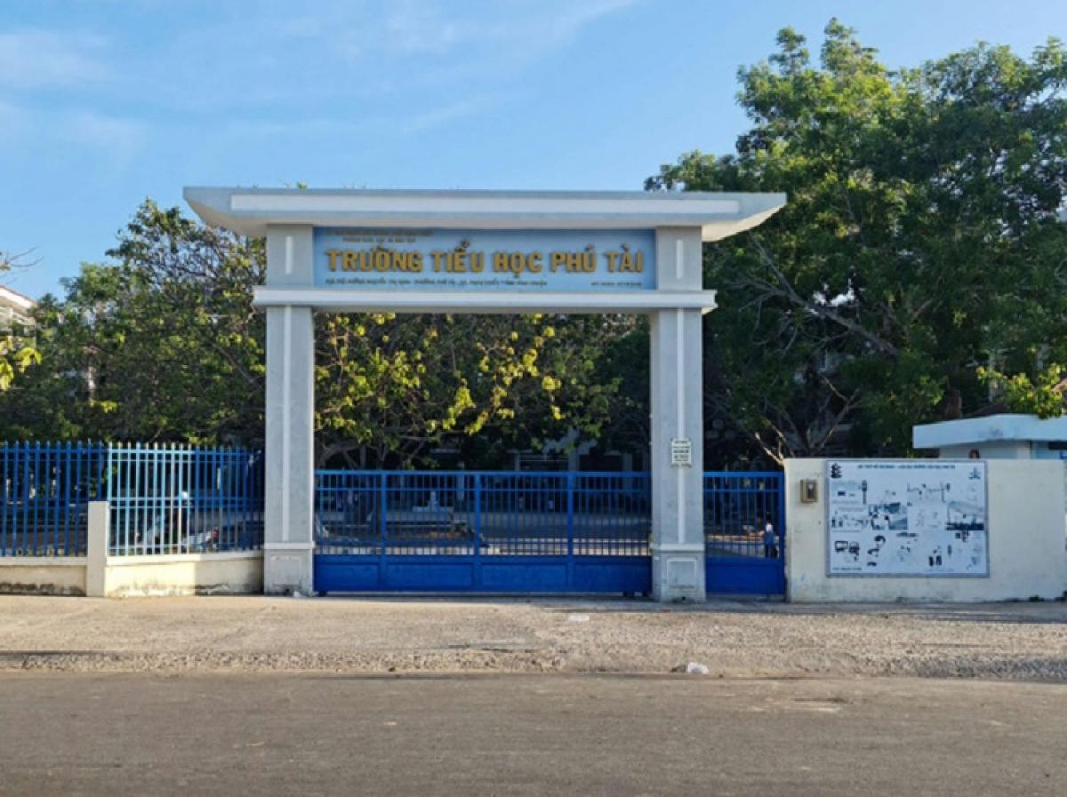 Trường Tiểu học Phú Tài- nơi cô giáo K làm việc.