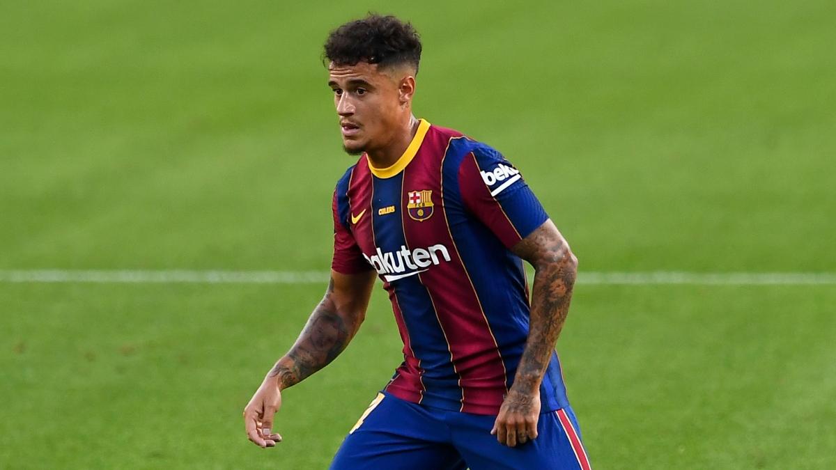 Coutinho nằm trong danh sách bị bán của Barca ở mùa hè 2021 (Ảnh: Getty).