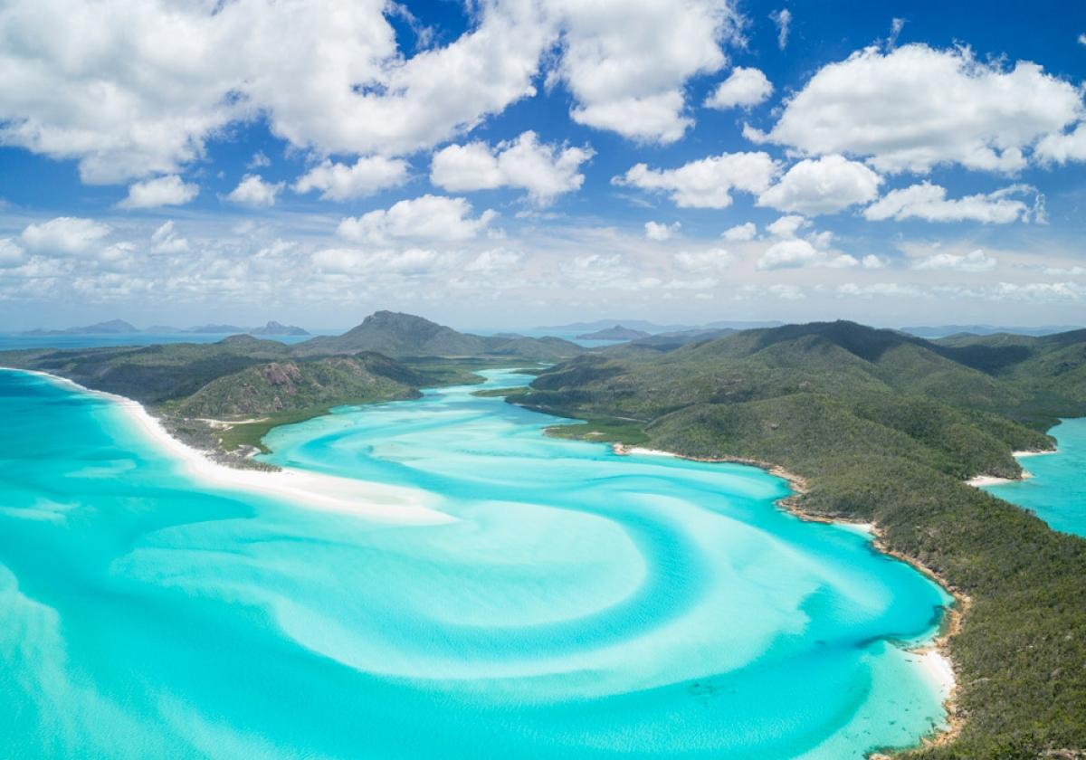 Đảo du lịch nổi tiếng Whitsunday nằm trong số những điểm đến được chính phủ Australia trợ giá vé máy bay. Ảnh: Australian Traveller