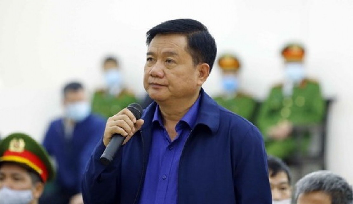 Ông Đinh La Thăng tại phiên tòa xét xử vụ Ethanol Phú Thọ. (Ảnh: Tấn Anh)