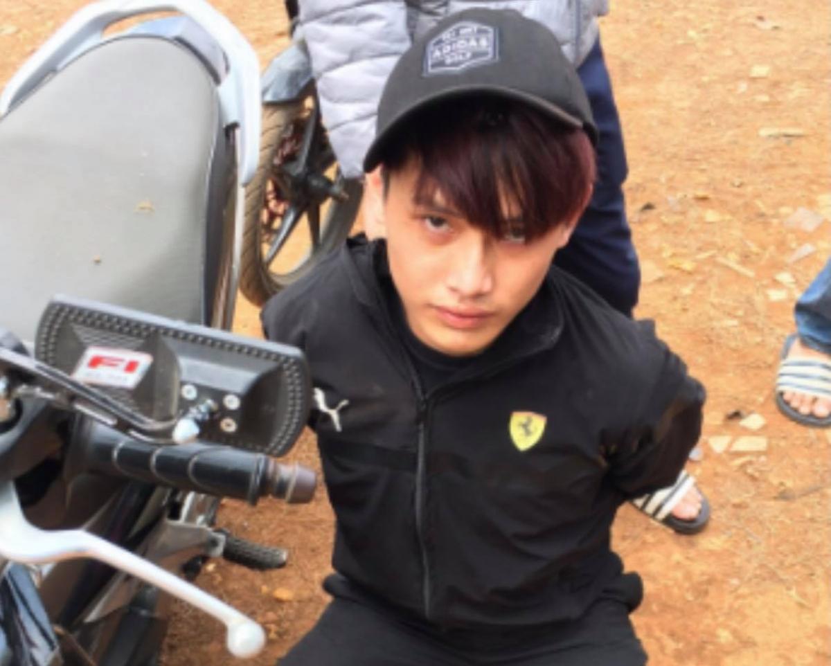 Đối tượng Thắng bị bắt giữ tại xã Pơng Drang, huyện Krông Búk sau khoảng 24h gây ra vụ cướp xe.