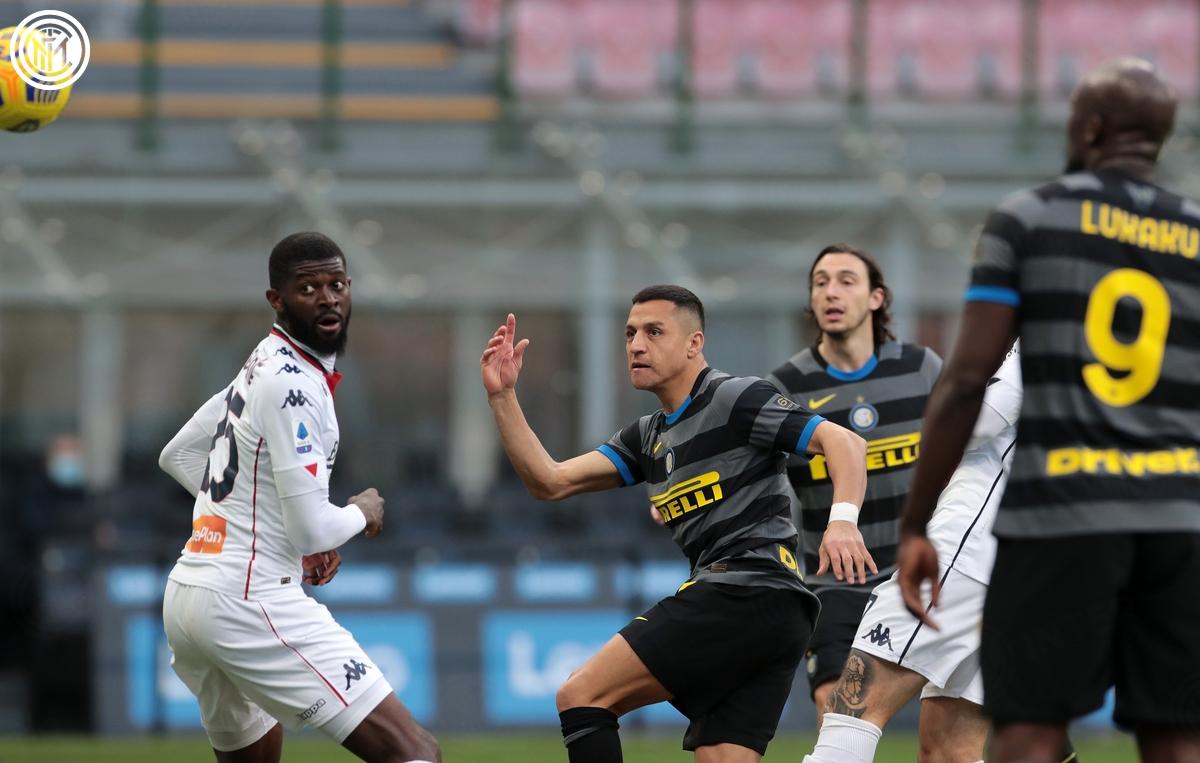 Chiến thắng 3-0 của Inter Milan được ấn định ở phút 77, Alexis Sanchez đánh đầu bồi tung lưới Genoa sau cú sút của Romelu Lukaku.