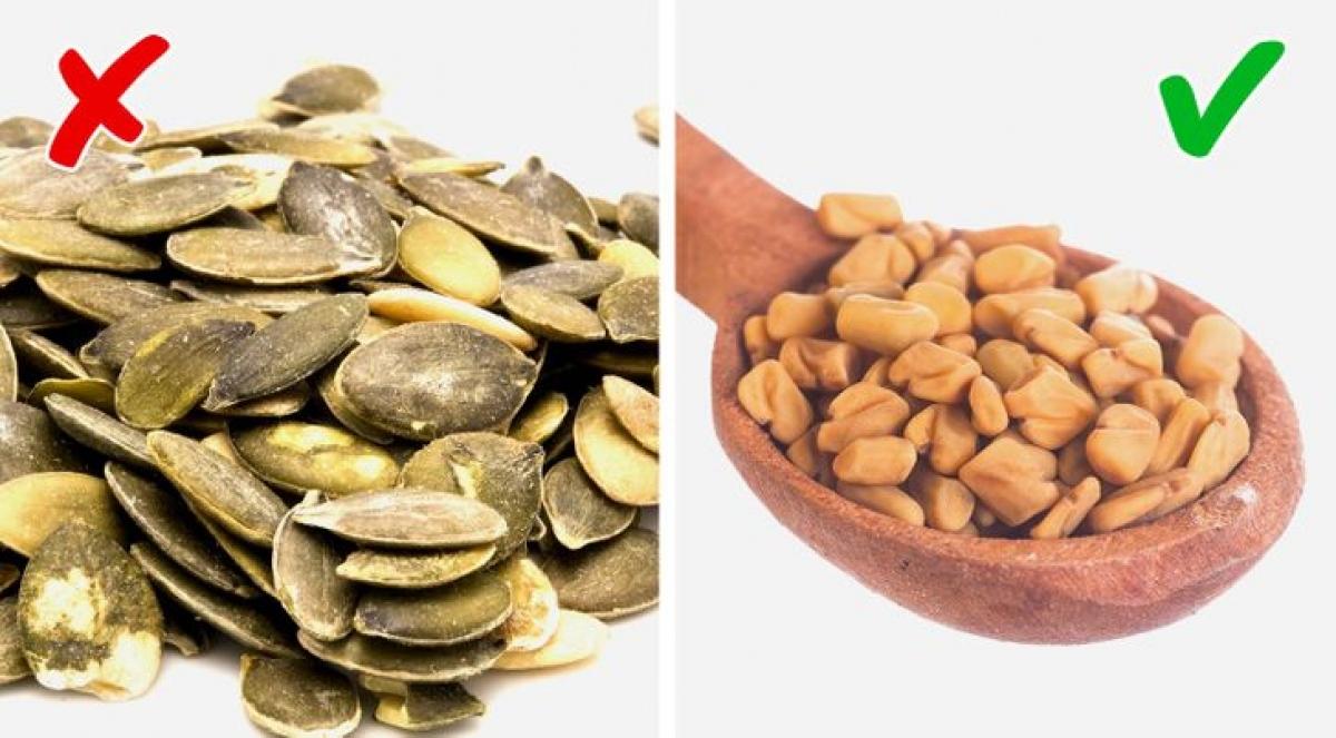 Hạt cỏ cà ri (ảnh phải) giúp cải thiện sức khỏe của hệ tiêu hóa và hỗ trợ quá trình loại bỏ độc tố gây mùi hôi ra khỏi cơ thể. Trong khi, tương tự như bí đỏ, hạt bí có chứa hàm lượng cao choline - một tác nhân gây mùi hôi./.