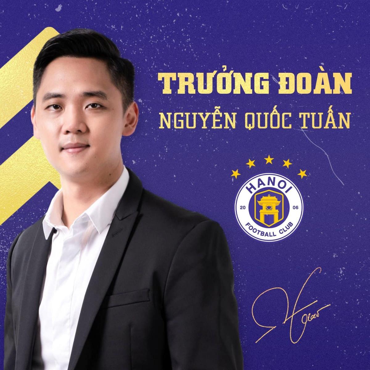 Tân Trưởng đoàn Hà Nội FC, ông Nguyễn Quốc Tuấn. (Ảnh: Hà Nội FC)