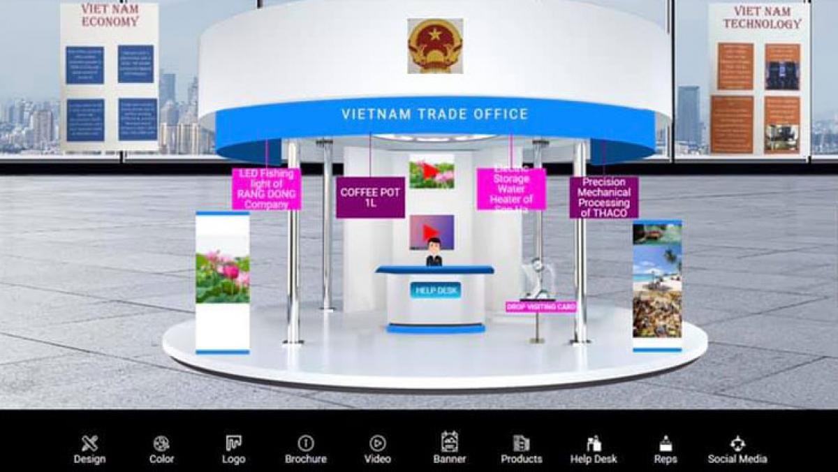 Gian hàng triển lãm trực tuyến của các DN Việt Nam tại hội chợIETF 2021.