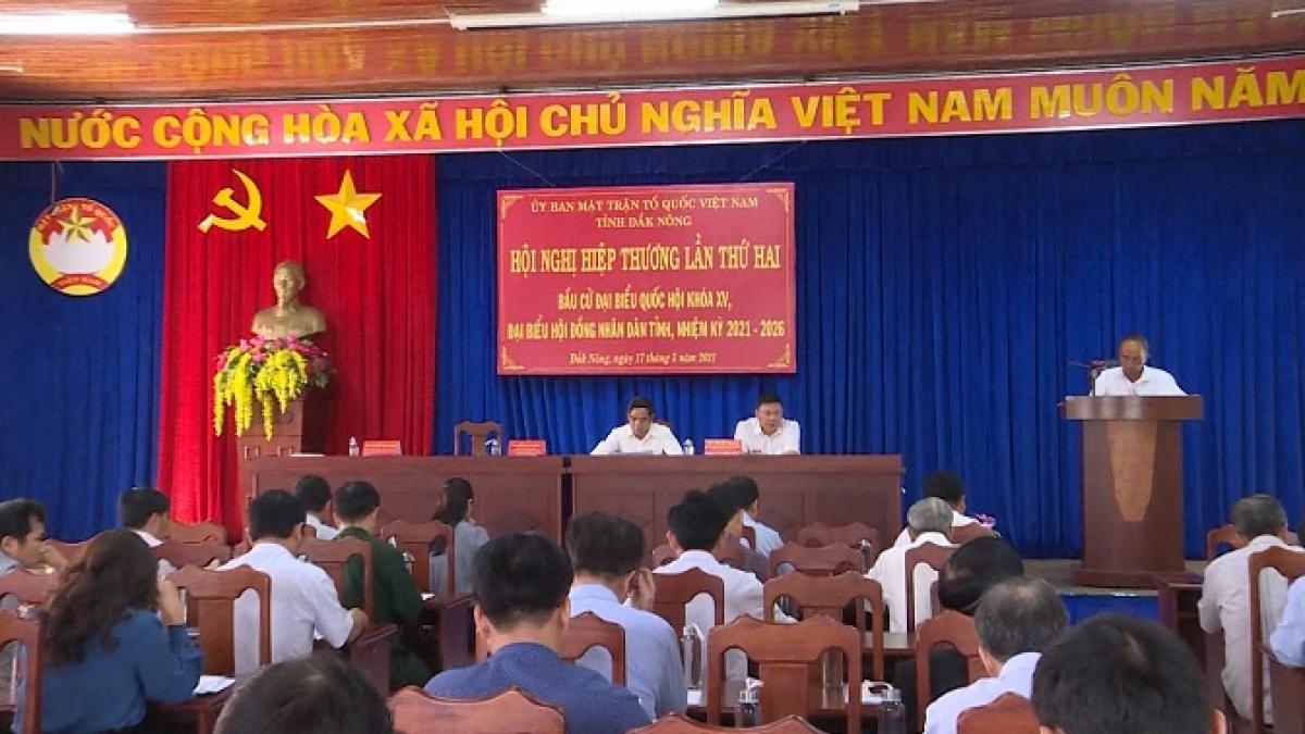 Ủy ban MTTQ tỉnh Đắk Nông tổ chức Hội nghị hiệp thương lần thứ hai