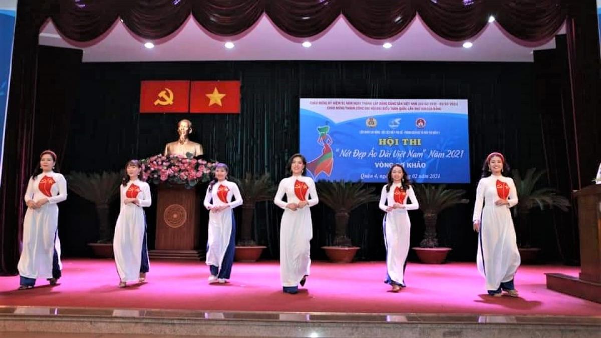 Hội thi Nét đẹp áo dài do Hội Liên hiệp Phụ nữ quận 4, TP. HCM tổ chức.
