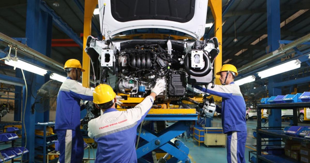 Car production at Hyundai Thanh Cong manufacturing plant. Photo: Hoang Giang