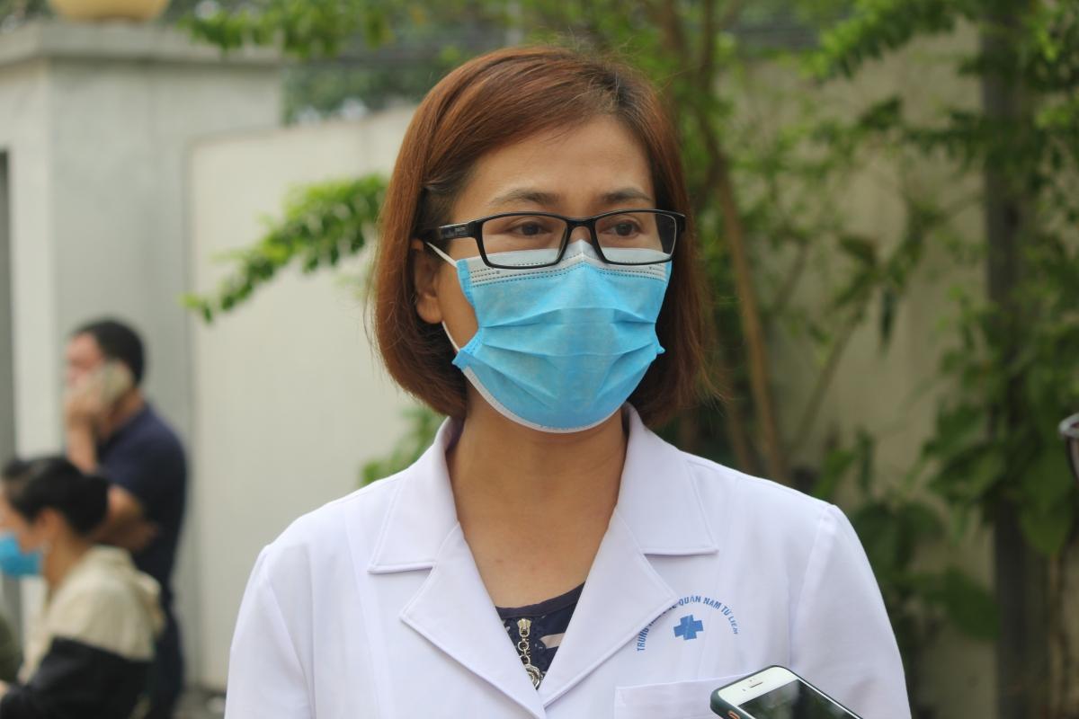 Giám đốc Trung tâm Y tế quận Nam Từ Liêm Nguyễn Thị Thu Trang.