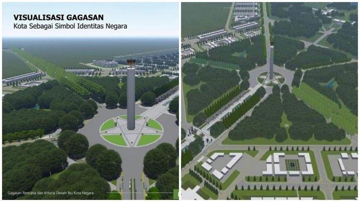 Thiết kế của thủ đô mới Indonesia. Nguồn: tribunnews